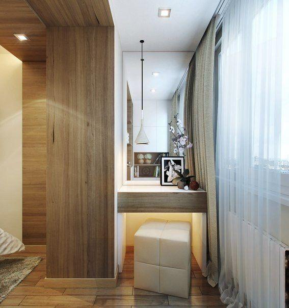 Дизайн интерьера: спальня совмещенная с балконом