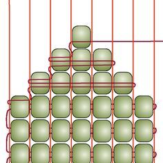 Beading on a Loom - Decreasing -- this could make it easier to end the beadwork & add a clasp