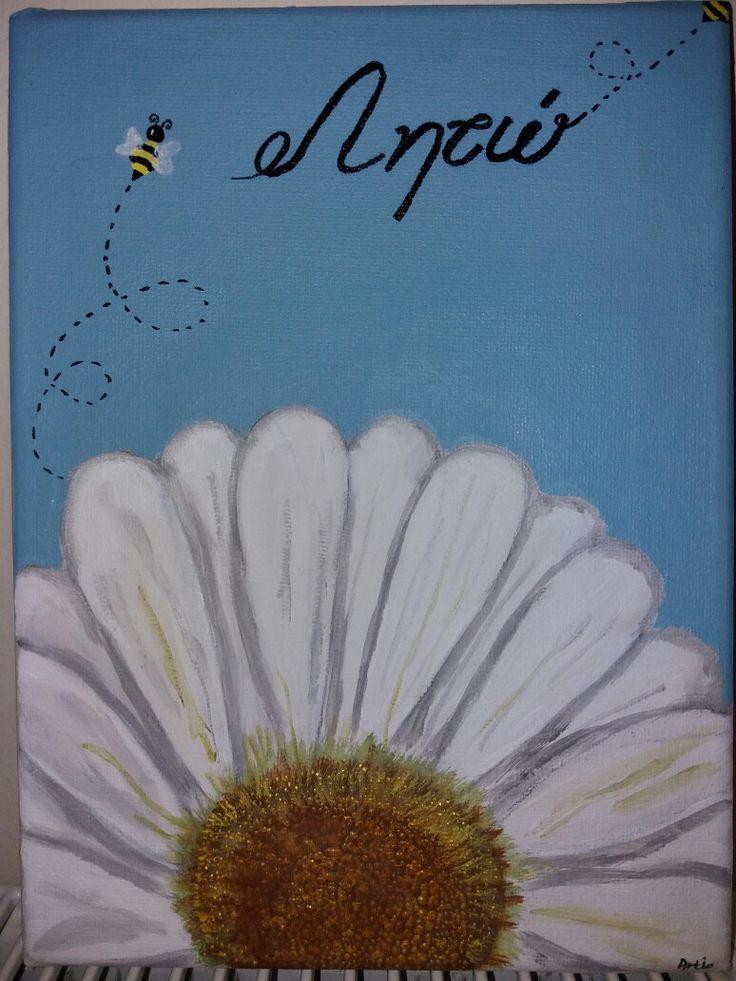 Gift for teacher acrylic paint canvas