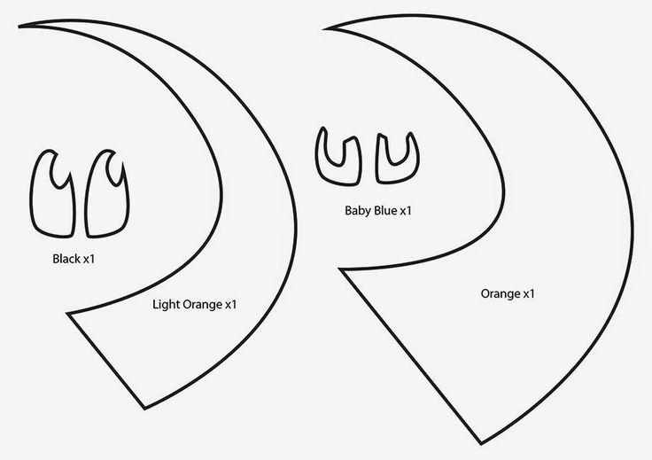 How to Make a Charmander Pokemon plushie template tutorial