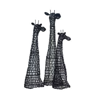 IKHAYA Wire Giraffe set - Weave Wire Giraffe Head - handcrafted in black or white  wire. Available at sourced4you.com.au  PART OF THE IKHAYA RANGE