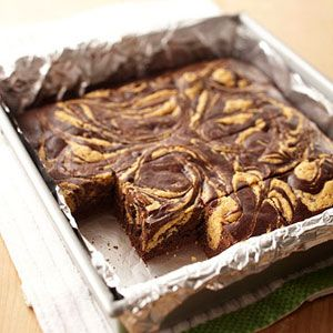 postres sin azucar : Chocolate Swirl Brownies