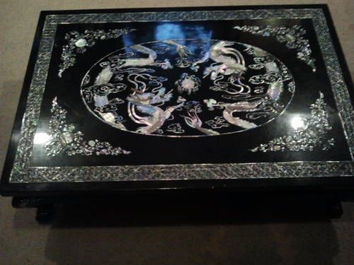 Korea, Lacquered Mother of Pearl Cocktail table