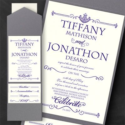 143 best Pocket Wedding Invitations images on Pinterest