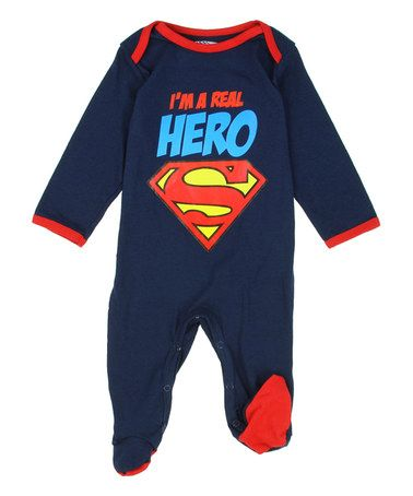 This Superman 'I'm a Real Hero' Footie - Infant is perfect! #zulilyfinds