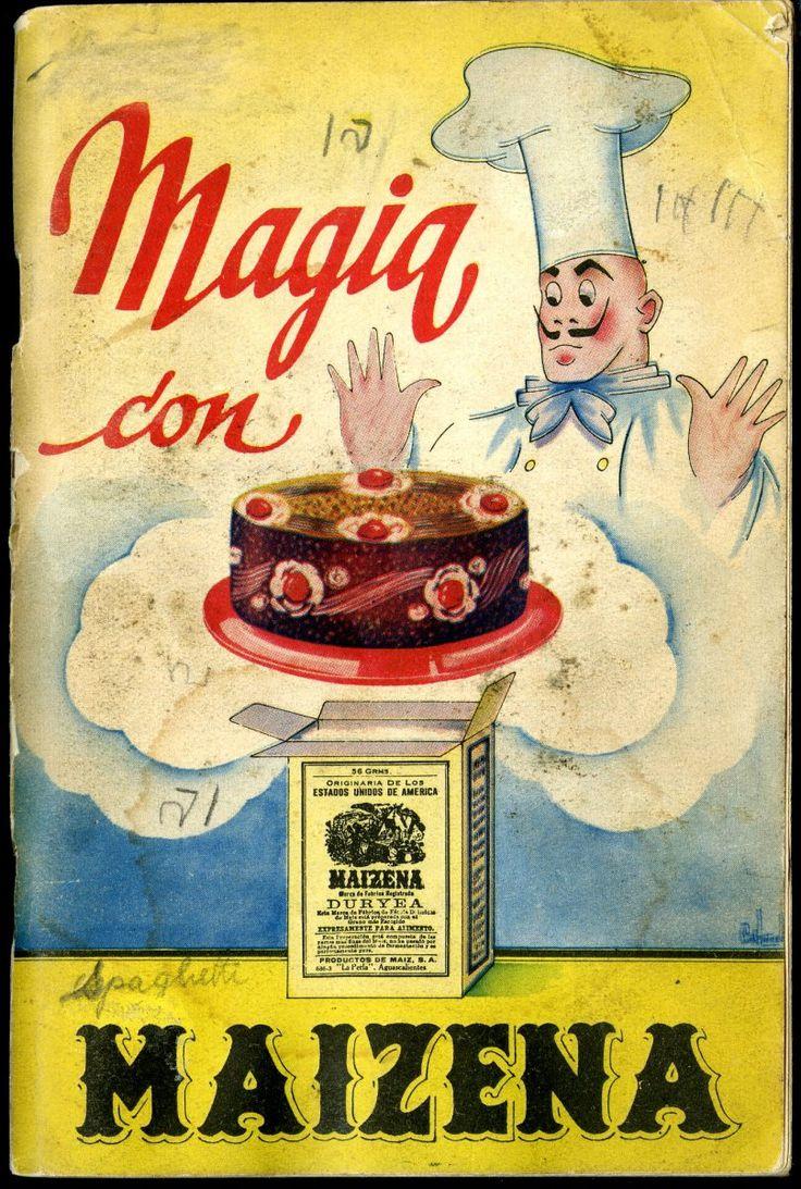 Magia con Maizena. Publicidad antigua.                                                                                                                                                                                 Más