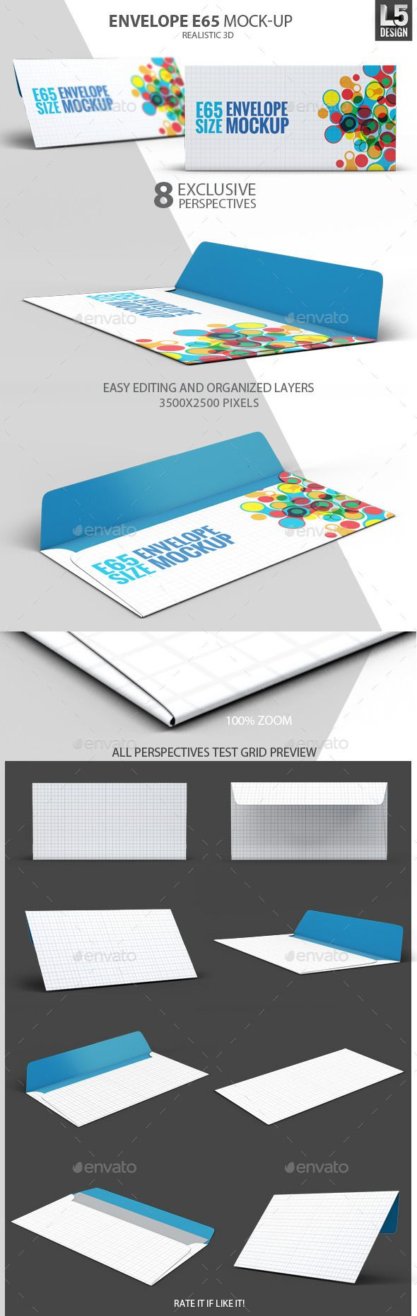 Envelope E65 MockUp — Photoshop PSD #contact #mailing • Available here → https://graphicriver.net/item/envelope-e65-mockup/10415761?ref=pxcr
