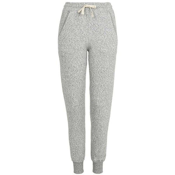 Women's Topshop Nep Jogger Pants ($48) ❤ liked on Polyvore featuring pants, jogger trousers, white pants, tapered pants, cream pants and tapered trousers