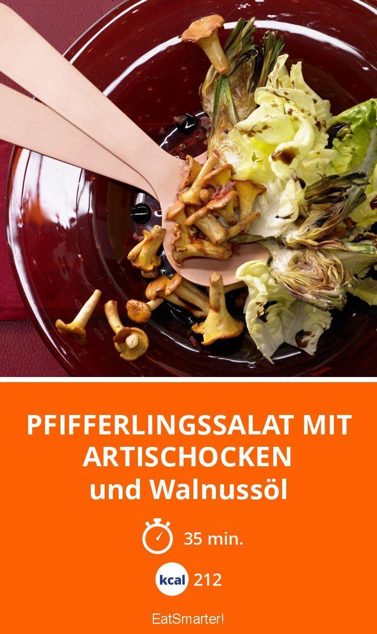Pfifferlingssalat mit Artischocken - und Walnussöl - smarter - Kalorien: 212 Kcal - Zeit: 35 Min. | eatsmarter.de
