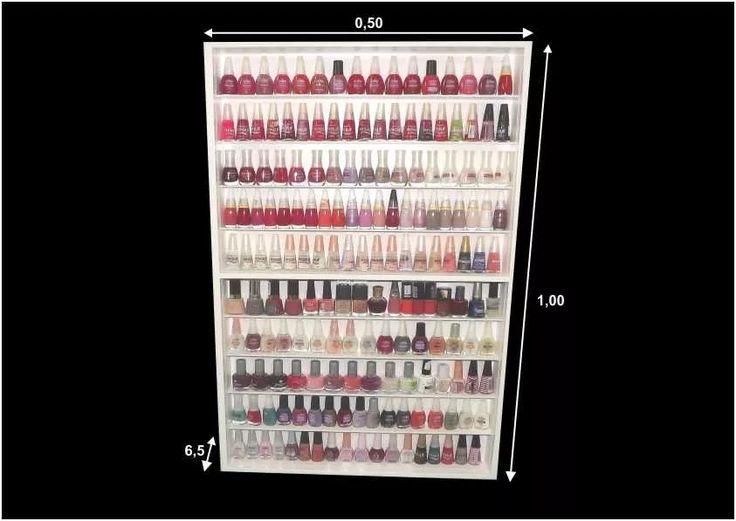 Expositor (170) Esmaltes (com Portas Acrilicos) Manicure - R$ 214,00 em Mercado Livre