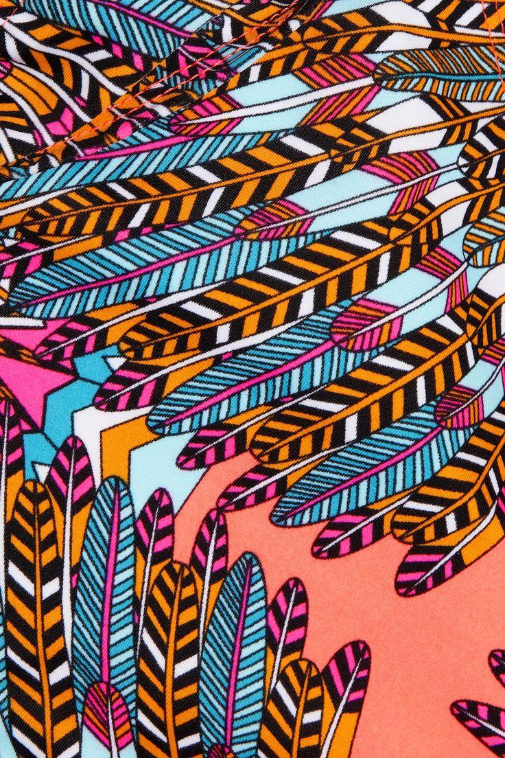 Mara Hoffman: Prints Patterns, Patterns Motif Prints, Mara Hoffman, Decor Patterns Prints, Bikini, Fabric, Feathers, Hoffman Print, Design