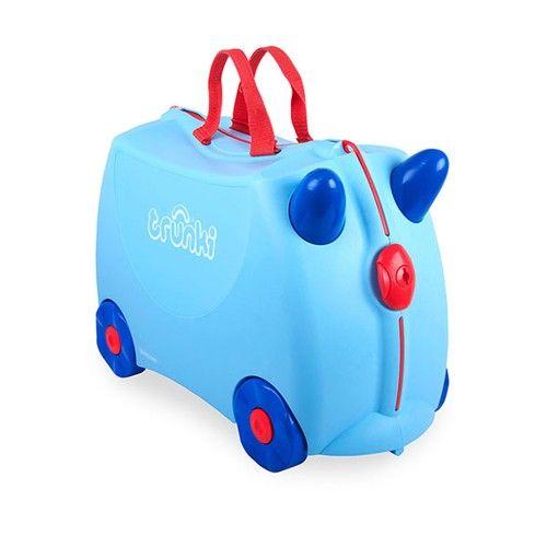 Maleta Trunki Príncipe George Azul 52,95 € Maleta-correpasillos hecha de plástico ligero para niños. Muy resistente. Soporta 50 kg de peso. Capacidad de 18 litros.