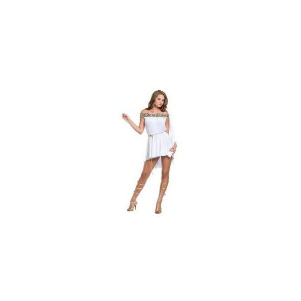 Greek Off The Shoulder Muse Adult Costume - Sexy Costumes ($40) ❤ liked on Polyvore featuring costumes, adult halloween costumes, sexy adult costumes, greek halloween costumes, sexy greek costume and greek costumes