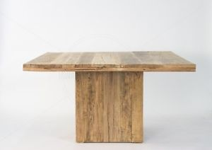 Clint Dining Table Seats 8-12 Flint Square Recycled Elm Rubbed Back Timber Gloss