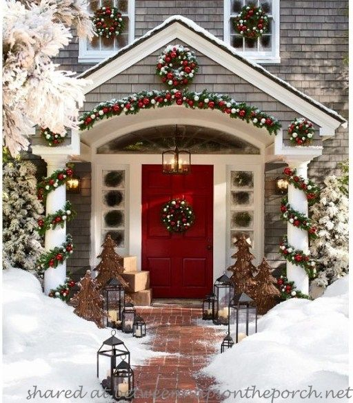 Make This Pottery Barn Inspired Garland.... This is exactly how I have been wanting to decorate our porch for the holidays! Too bad we won't have snow