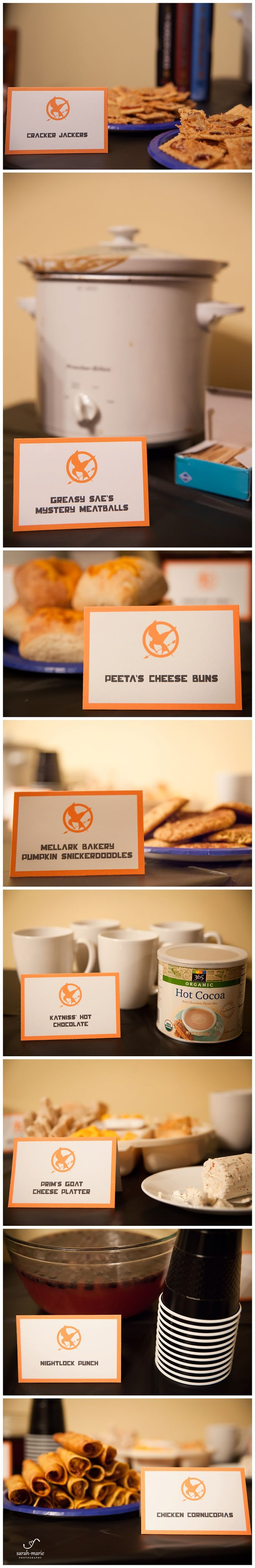Hunger Games party food ideas