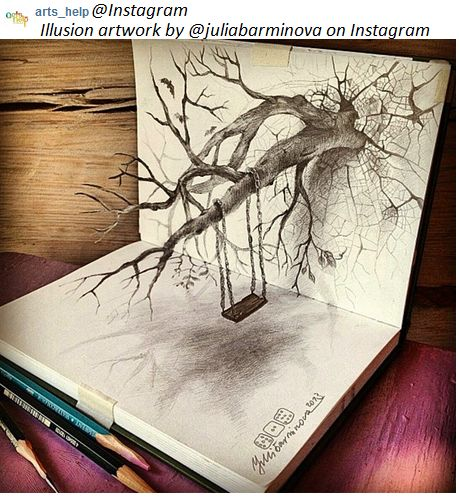 Work found on instagram arts help by juliabarminova on for Table 3d dessin