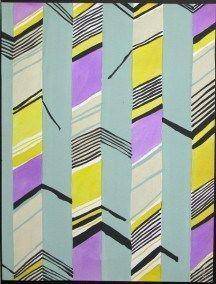 Neon yellow and purple. 80's chic.