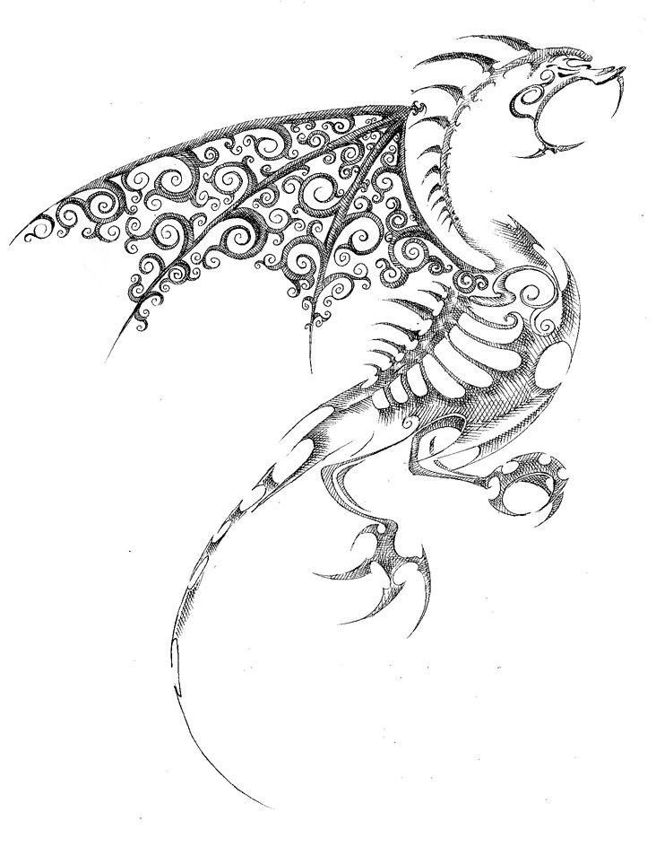 Dragon de filigrana by ~2dlara on deviantART