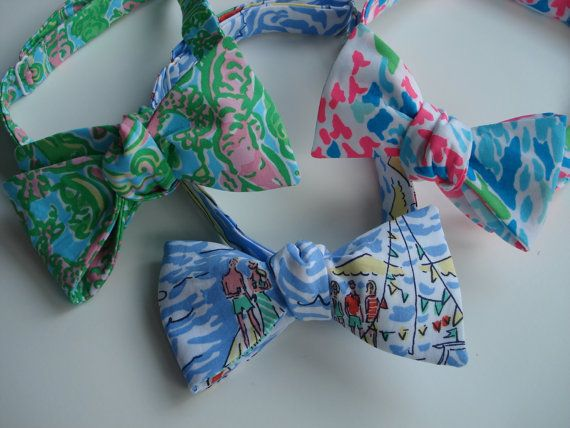 Lilly Pulitzer Bow Tie by mercystreams on Etsy, $29.00