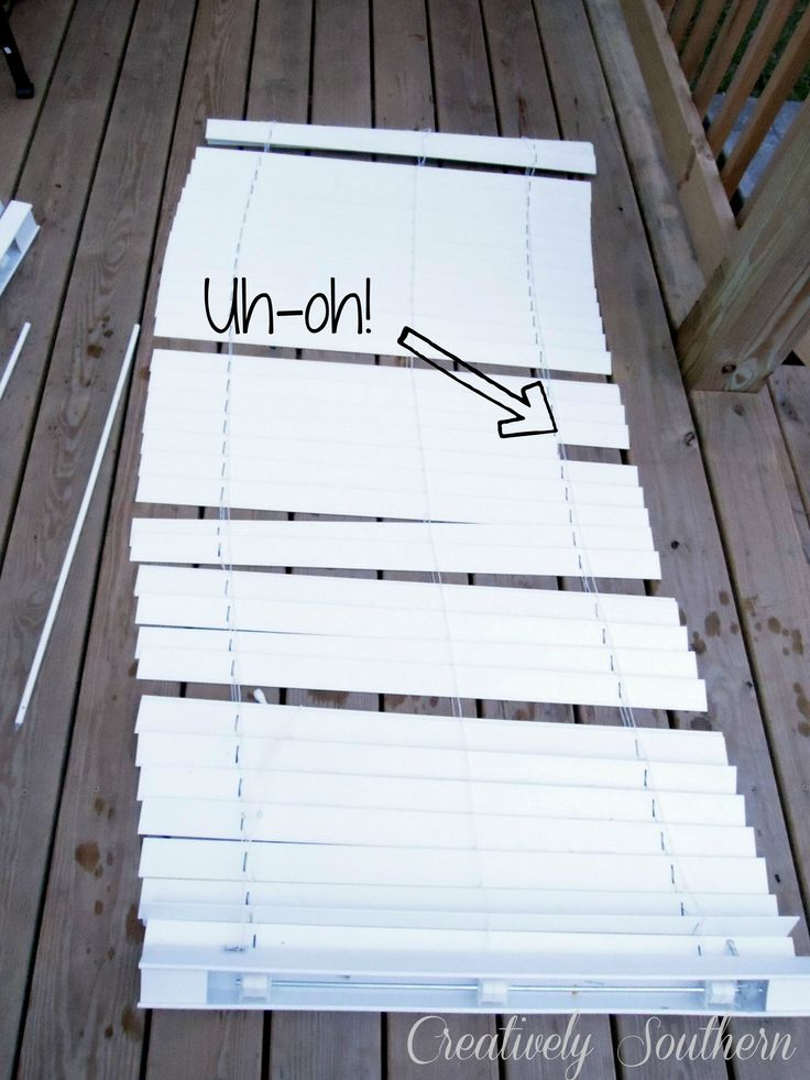 how to clean blinds & replace broken slat by using an extra slat from the bottom!