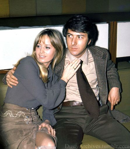 Dustin with Susan George in 1970(?)