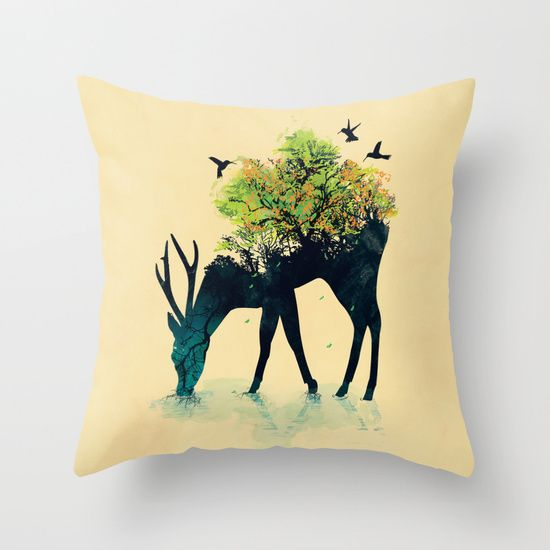 Watering+(A+Life+Into+Itself)+Throw+Pillow+by+Budi+Kwan+-+$20.00