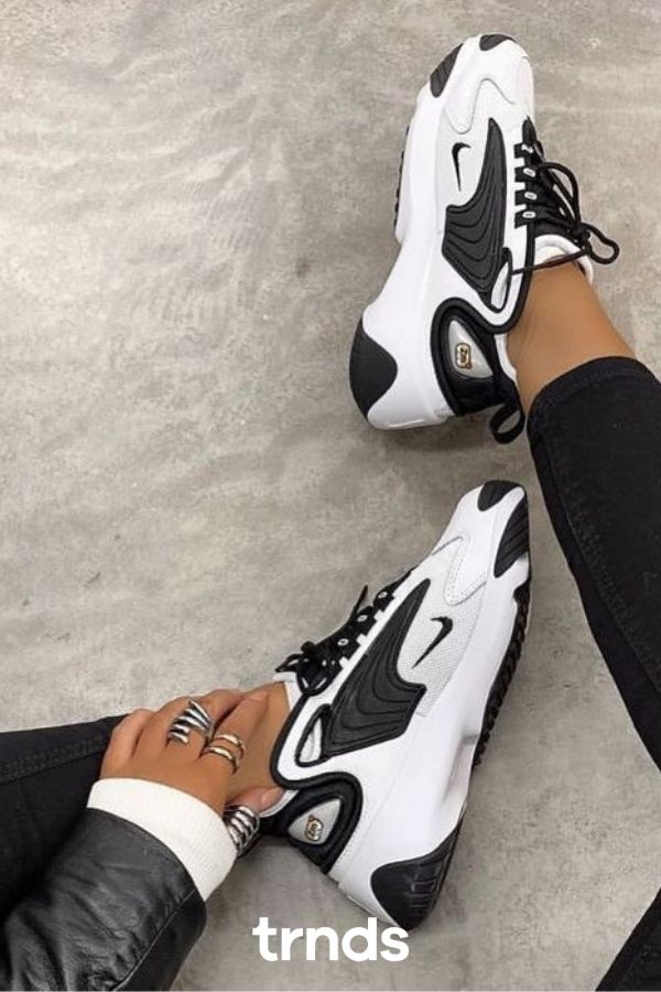 Nike Grey & Off-White Zoom 2K Sneakers for Women.