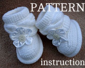 P A T T E R N Baby Booties Baby Muster gestrickt Baby Booties Knitting Pattern Baby Booty Baby Uggs Muster Baby Stiefel (PDF Datei)