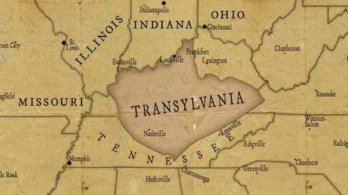 Transylvania was a short-lived colony primarily in what is now the U.S. state of Kentucky. The colony was founded in 1775 by Richard Henderson of North Carolina, who purchased the land from the Cherokees. The most famous resident of Transylvania was the American pioneer Daniel Boone, who was hired by Henderson to establish the Wilderness Trail through the Cumberland Gap into central Kentucky, where he founded Boonesborough, the capital of the colony. Transylvania ceased to exist after 1776.
