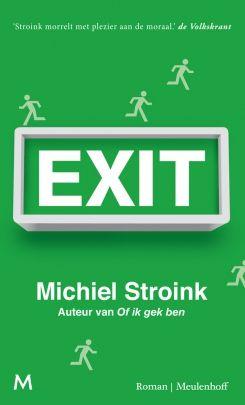 Michiel Stroink - Exit Voor mislukt schrijver Abel Schreuder is er maar één manier om aan zijn ambitieloze leven te ontsnappen en dat is: verdwalen. Na een bezoekje aan zijn demente oma in het bejaardenhuis laat hij het lot beslissen en reist via Hannover naar de schimmige ruïnefeesten van Berlijn. In dit zelfgeschapen doolhof ontmoet hij de femme fatale Eva, de backpackprofessional Jerry en vele andere verlorenen die hem helpen de weg kwijt te raken.