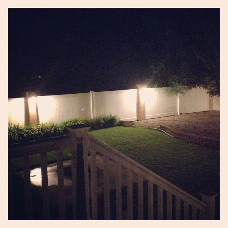 Our new fence lighting for the back yard!