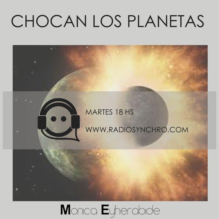 "CHOCAN LOS PLANETAS mi programa de Radio donde me podes escuchar cada martes de 18 a 19 hs #radio ""monicaeyherabide ""astrologia #astrology #natal"
