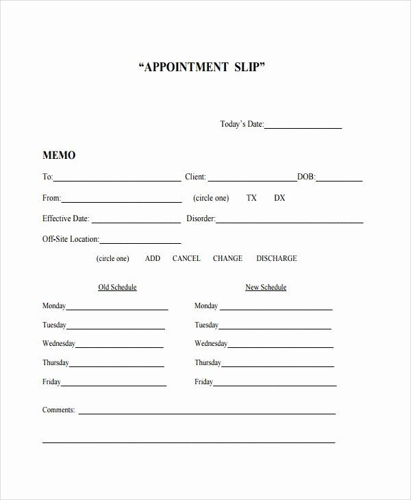 Appointment Reminder Template Word Beautiful Sample Appointment Slip Template 7 Free Documents Card Templates Free Card Template Business Card Appointment