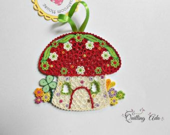 Quilled Christmas ornament-ornament tree-quilling by PaperArtbyAda