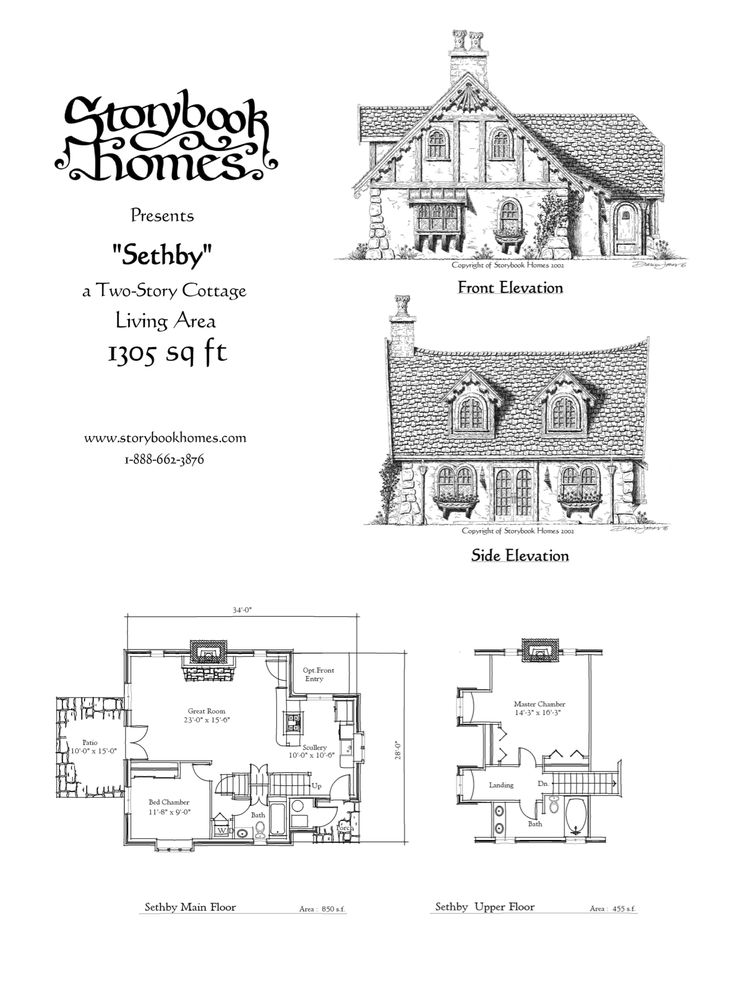 Storybook homes floor plans gurus floor for Storybook cottage plans