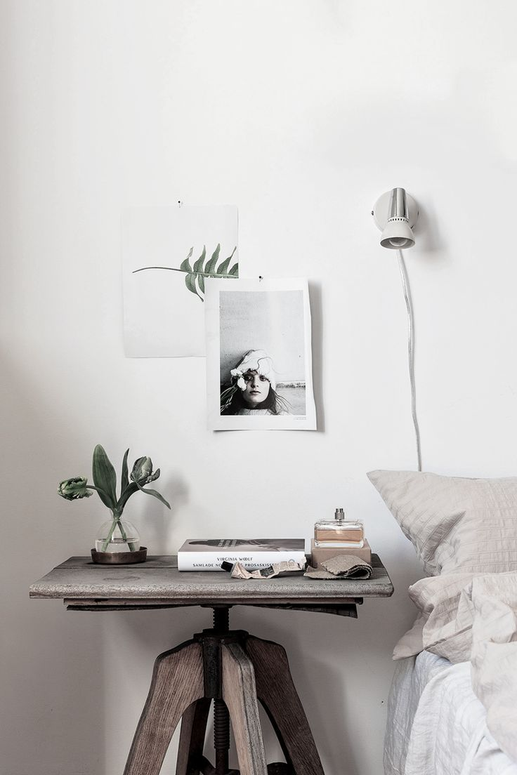 rustic and minimal combined interior - simple mood board
