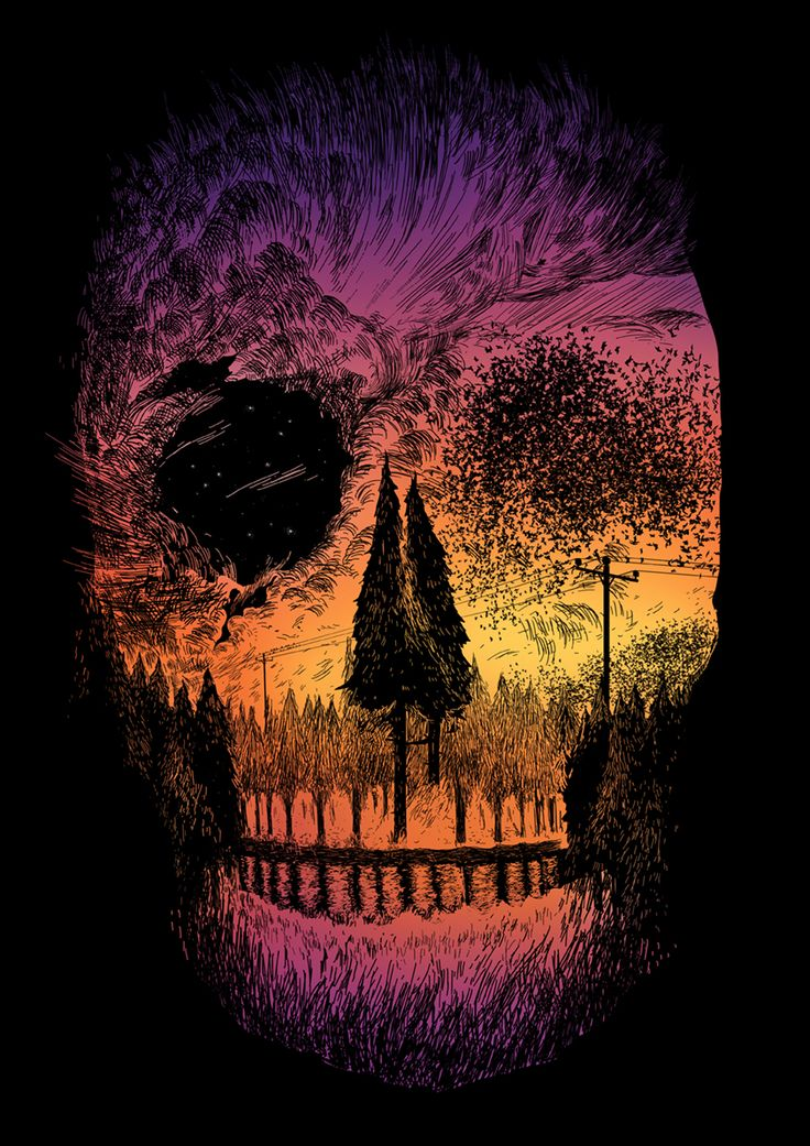 Always wanted a skull and tree/nature tattoo- this is a perfect blend. Gorgeous colors too even though I was thinking black and white.