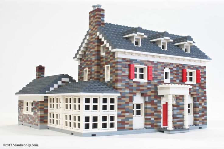 Sean Kenney - Art with LEGO bricks : Old stone house