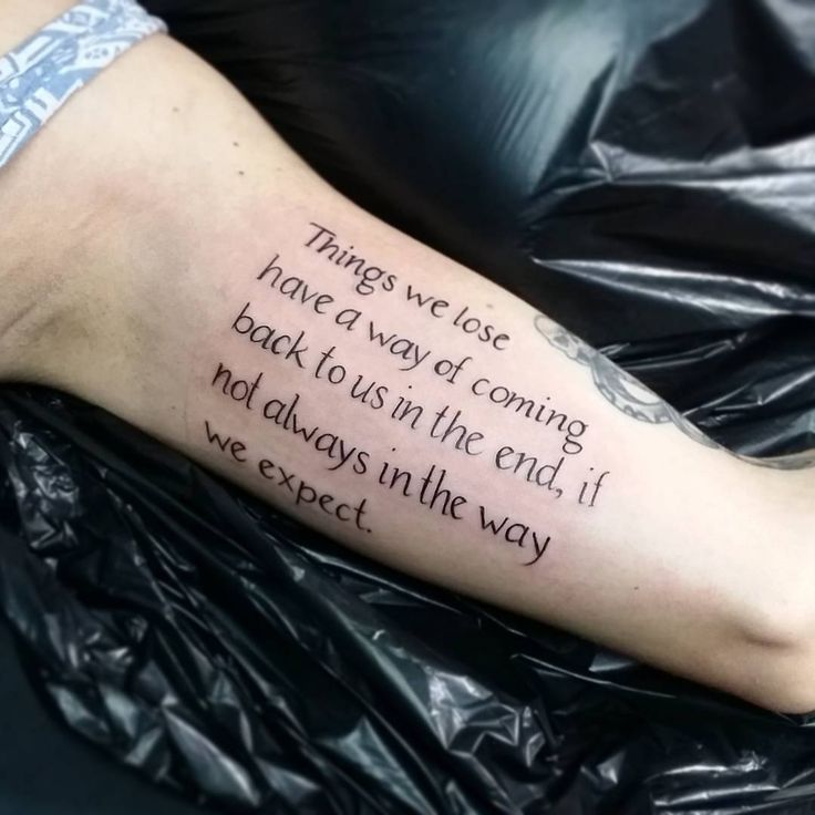 15 Beautiful Inspirational Tattoo Quotes For Men & Women