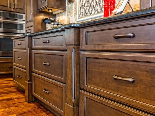 Grime, grease and grunge on kitchen cabinets don't stand a chance with these tips from DIY Network.