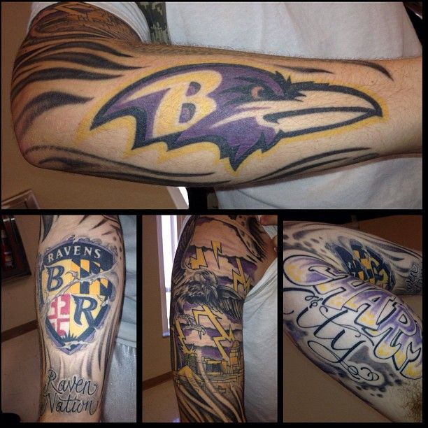 17 best images about baltimore ravens tattoos on pinterest for Maryland tattoo shops
