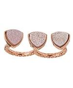 Dara Ettinger Mimi Druzy Double Ring in Rose Gold Price: $188.00