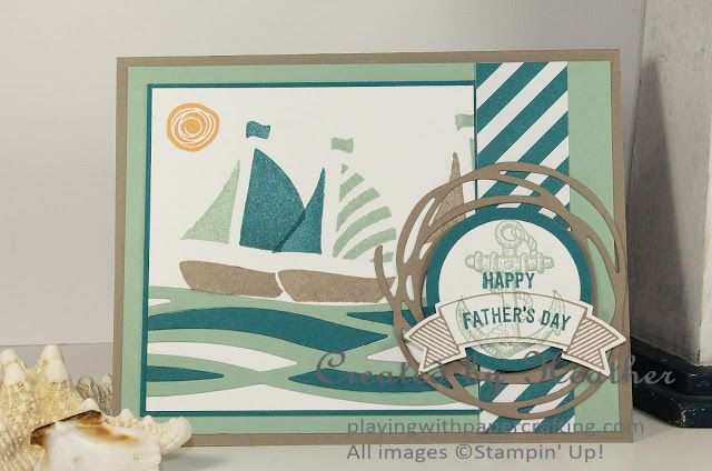 Playing with Papercrafting: Stampin' Up! Swirly Bird Sailboats for The Global Design Project