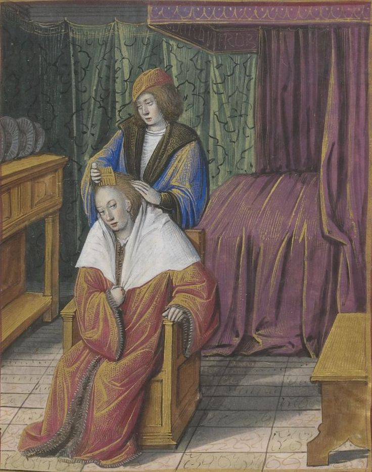 Alain Chartier (c. 1385 – between 1430 and 1446) was a French poet and political writer. This illumination is from Jean Poyer? Le Bréviaire des nobles (approximately between 1422 and 1426, maybe later since Jean Poyer was active after 1483)