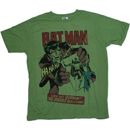 Men`s Clothing Junk Food Batman And Joker Kelly Green T-Shirt Junk Food Batman And Joker Kelly Green T-ShirtGraphic print to the frontShort sleeve 100% Cotton t-shirt. http://www.comparestoreprices.co.uk//mens-clothing-junk-food-batman-and-joker-kelly-green-t-shirt.asp