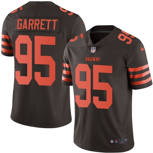 Youth Nike Cleveland Browns #95 Myles Garrett Limited Brown Rush NFL Jersey nfl jersey number rules