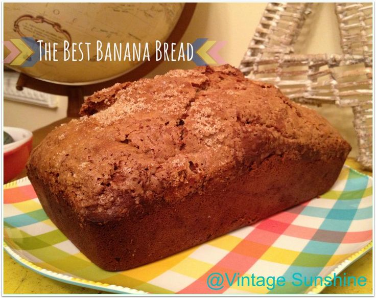 The Best Banana Bread Ever!  www.vintagesunshine.com #bananabread #banana #recipe #bestbananabreadever #bread #baking