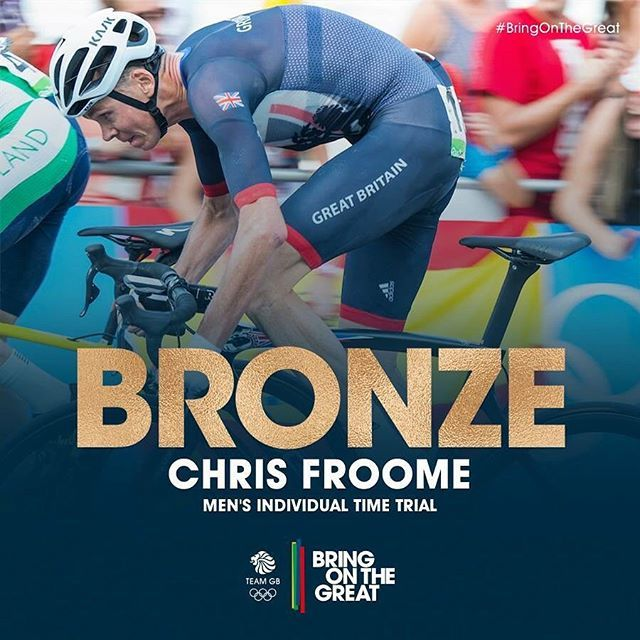 #Bronze for @chrisfroome! A great ride sees Chris grab an Olympic #Medal at Rio. Congratulations Chris! #BringOnTheGreat