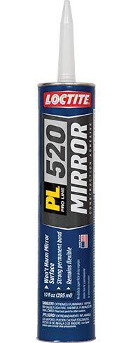 Loctite PL 520 Mirror Adhesive. Permanent fastening.